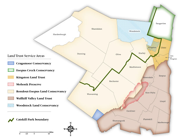 Ulster County Land Trusts Map